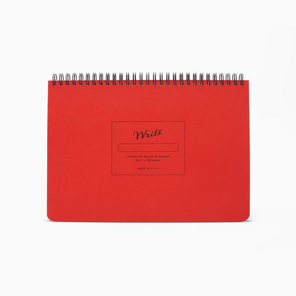 Write Notepads & Co - Landscape Notebook - Red