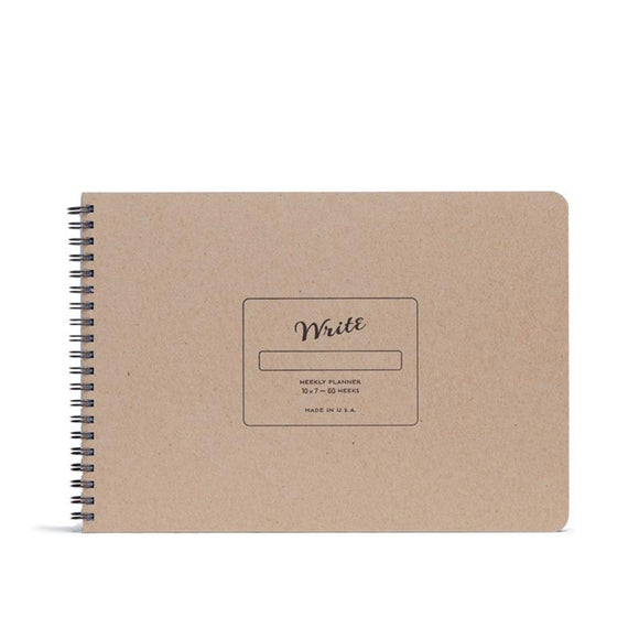 Write Notepads & Co - Weekly Planner - Kraft
