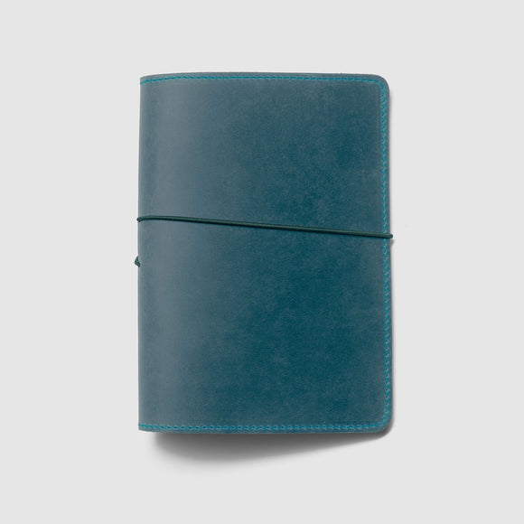 Berlin Leather Notebook Cover - Petrol