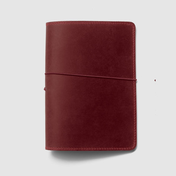 Berlin Leather Notebook Cover - Red