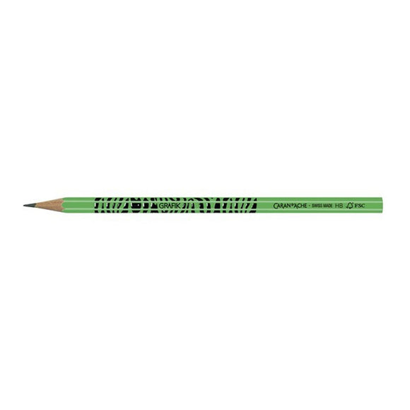 Caran D'ache Grafik Fluo Green Pencil
