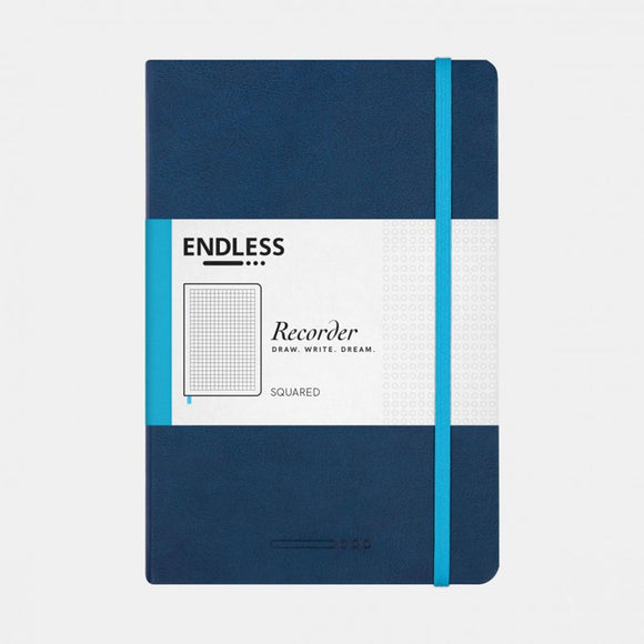 Endless Recorder Notebook - A5 Squared Deep Ocean
