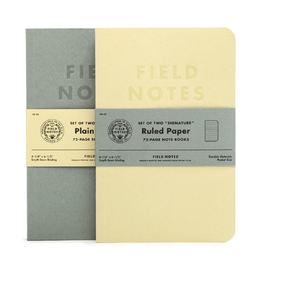 Field Notes - Signature Plain and Ruled