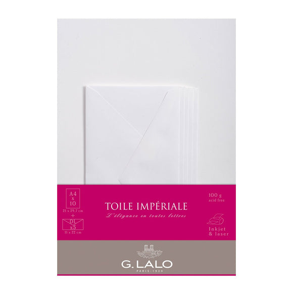 G.Lalo - Toile Imperiale Writing Set A4