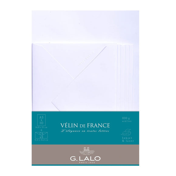 G.Lalo - Velin de France Writing Set A5