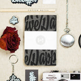 Dapper Notes - My Friends (Black and Grey)