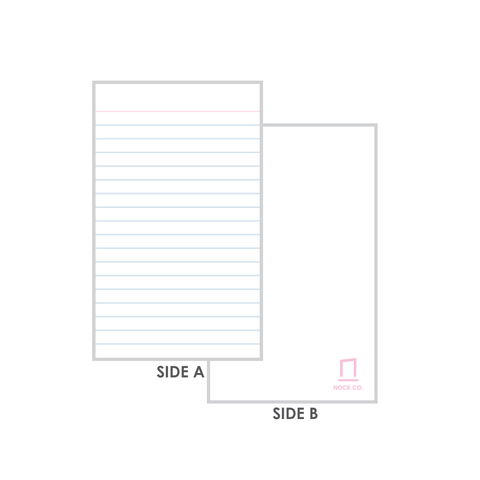 Nock Blank and Lined Note Cards