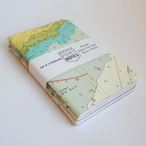PocketNotes - Nautical Chart Notebooks - 3 Pack