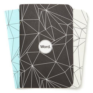 Word Notebooks - Polygon Combo Ruled Set of 3