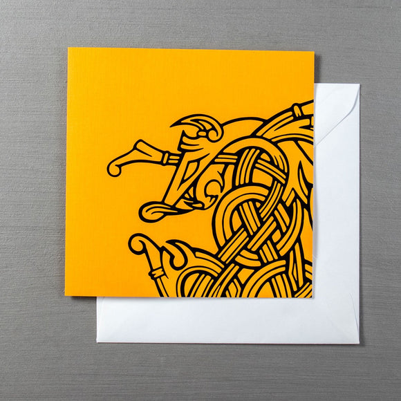 Viking Greetings Card - The Nidhogg Serpent