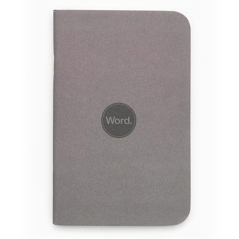 Word Notebooks - Charcoal Ruled Set of 3