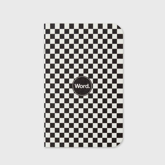 Word Notebooks - Checkerboard - 3 Pack