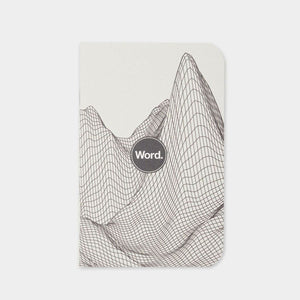 Word Notebooks - Digital Mountain Grey - 3 Pack