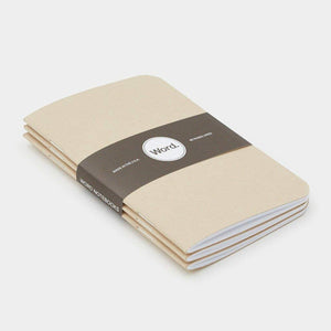 Word Notebooks - Natural Ruled Set of 3