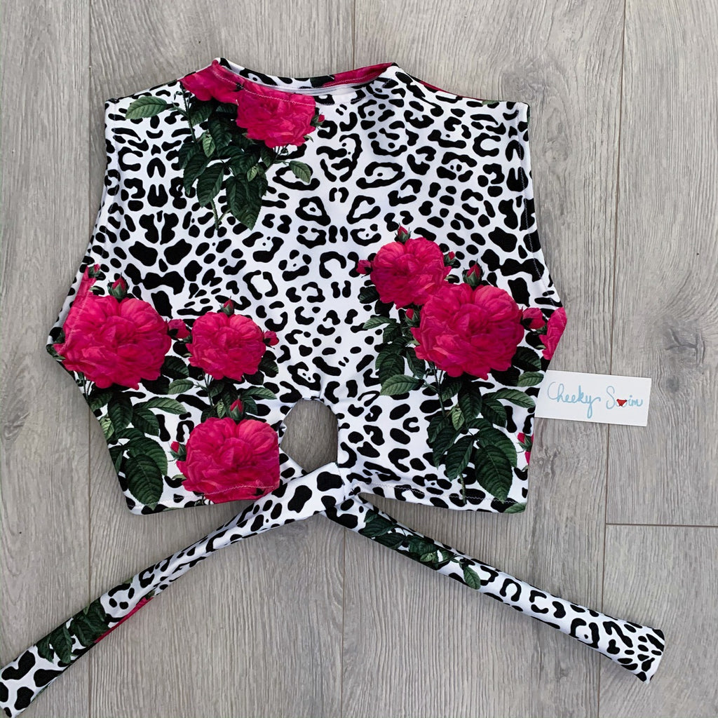 Sand Leopard Carnation Top
