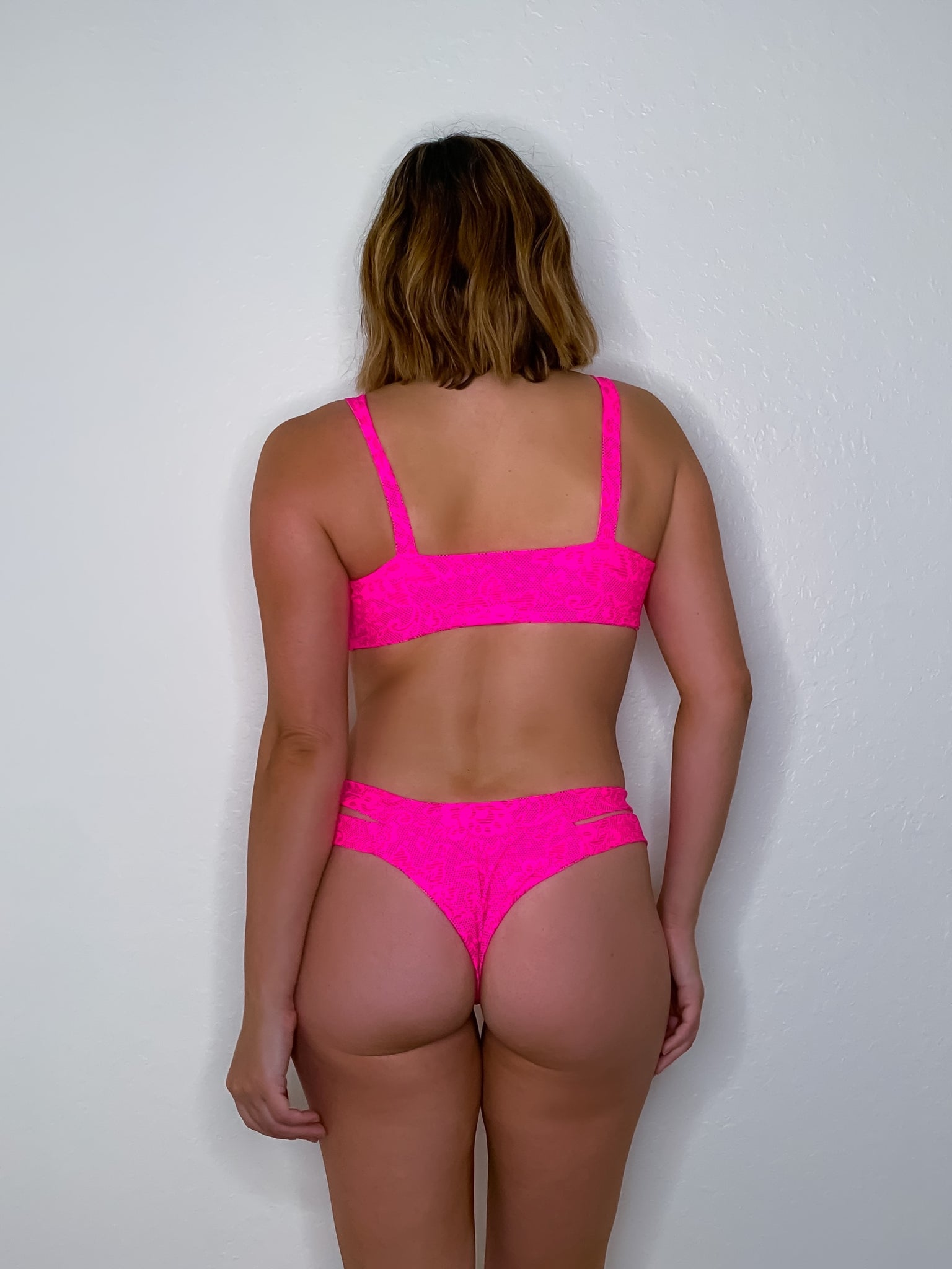 Neon Pink Lace Royal Bottom