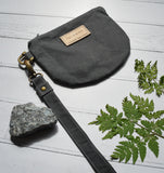 Fernweh UK Waxed Cotton Canvas Wristlet - Grey