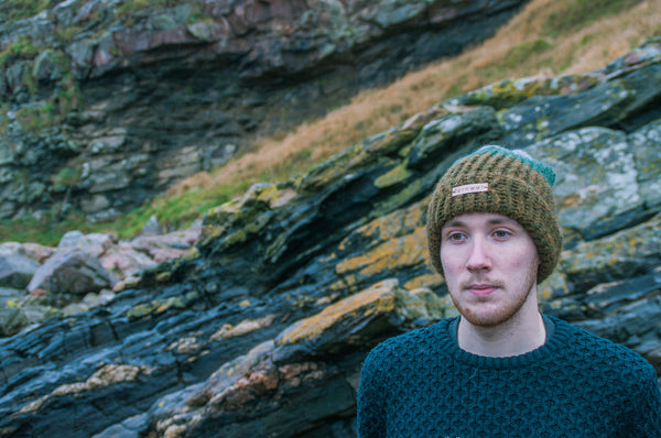 Fernweh UK - 'BRUACH'  Hand Knit Unisex Merino/Alpaca Hat