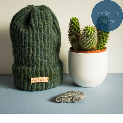 "Fernweh UK - ""FRITHE"" Luxury Chunky Knit Merino Hat"