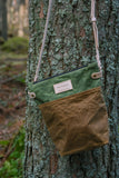 Fernweh UK - Crossbody Field Bag - Green/Tan