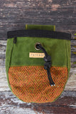 Fernweh UK Waxed Cotton Canvas Chalk Bag - Green/Orange Tweed