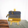 Fiadhaich Waxed Canvas Pouch - Navy/Grey/Ochre