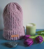 "Fernweh UK ""BLUSH"" Chunky Merino/Alpaca Knit Hat"