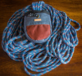 Fernweh UK - Waxed Cotton Canvas Chalk Bag - Grey/Rust
