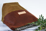 Fernweh UK - Waxed Cotton Canvas Medium Zipper Pouch - Rust/Tan