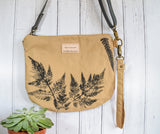 "Fernweh UK: ""Raineach"" Hand Printed Duck Canvas Bag - Sand"