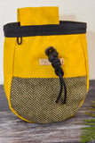 Fernweh UK Waxed Cotton Canvas Chalk Bag - Yellow/Tweed