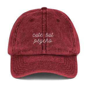 Cute But Psycho Dad Cap