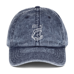 Bite Me Dad Cap