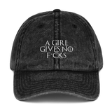 A Girl Gives No F*cks Dad Cap - PlanetSlay