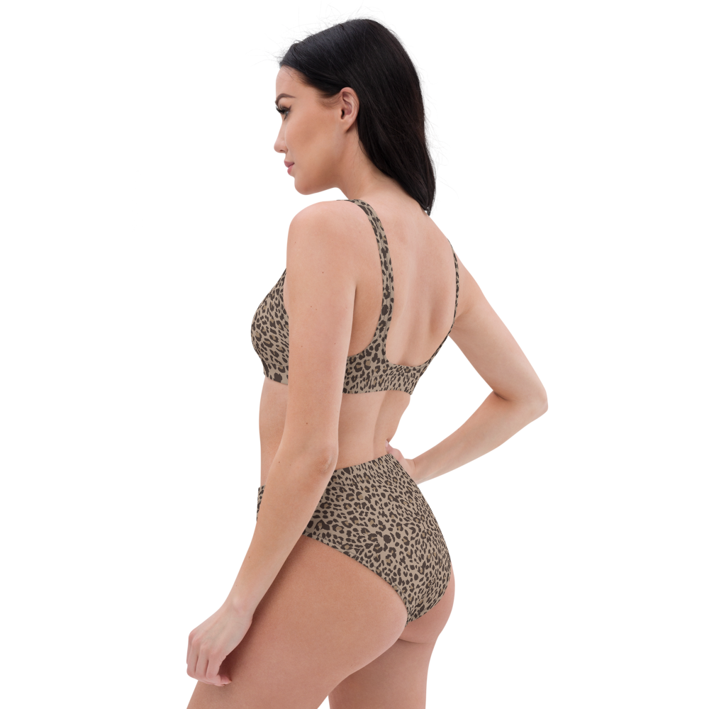 Cheetah Print High-Waisted Bikini