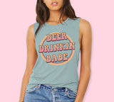 Beer Drinkin' Babe Muscle Tank - PlanetSlay
