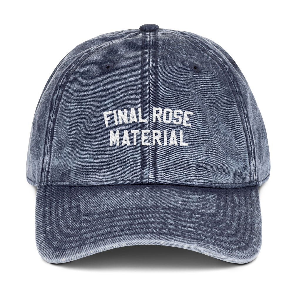 Final Rose Material Dad Cap - PlanetSlay