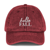 Hello Fall Dad Cap