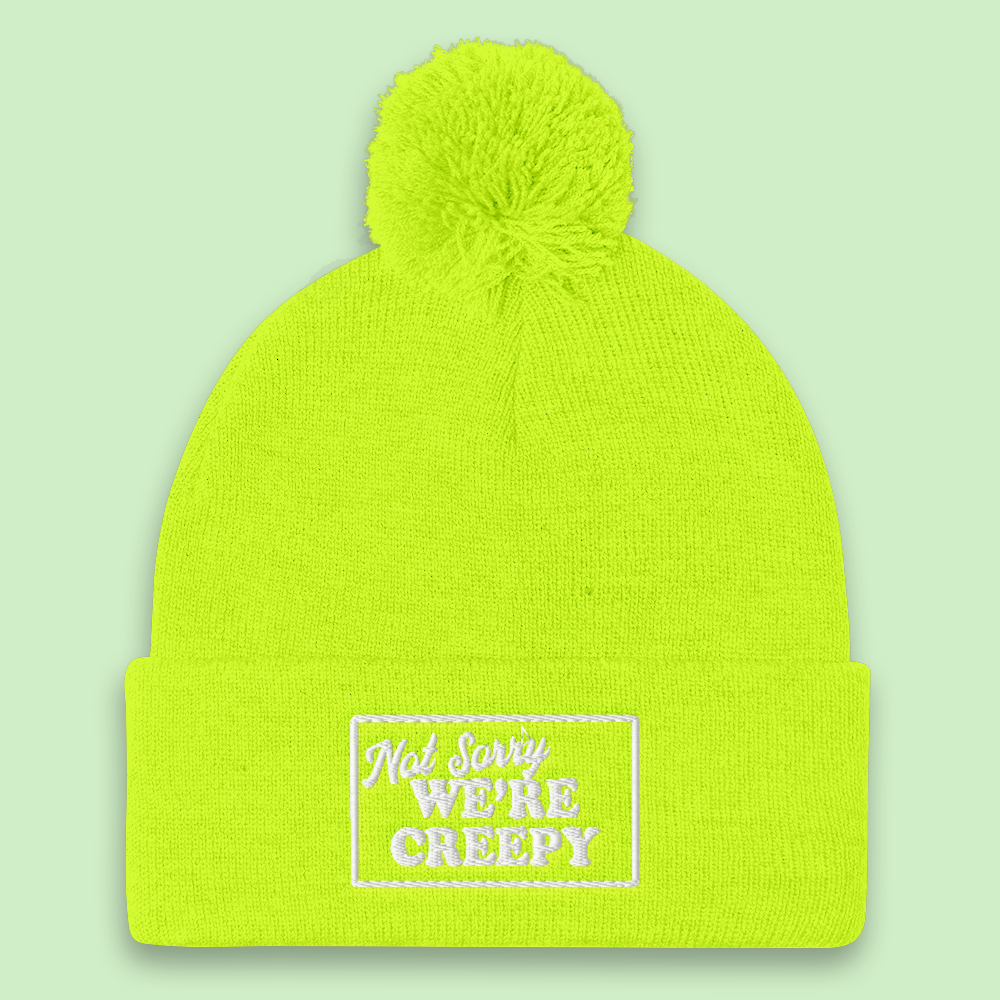 Sorry We're Creepy Pom Pom Beanie - PlanetSlay