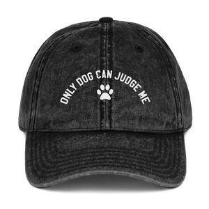 Only Dog Can Judge Me Dad Cap - PlanetSlay