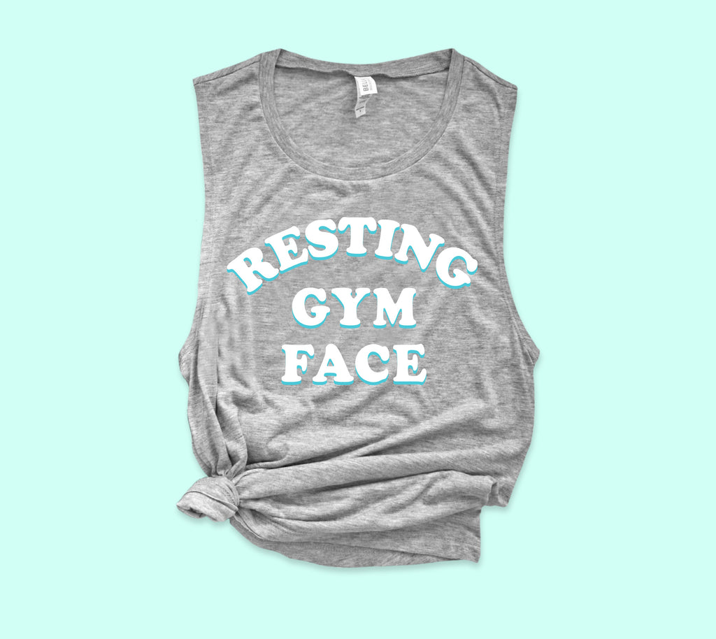 Resting Gym Face Muscle Tank