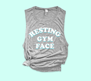Resting Gym Face Muscle Tank - PlanetSlay