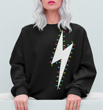 Lightning Bolt Christmas Lights Sweatshirt
