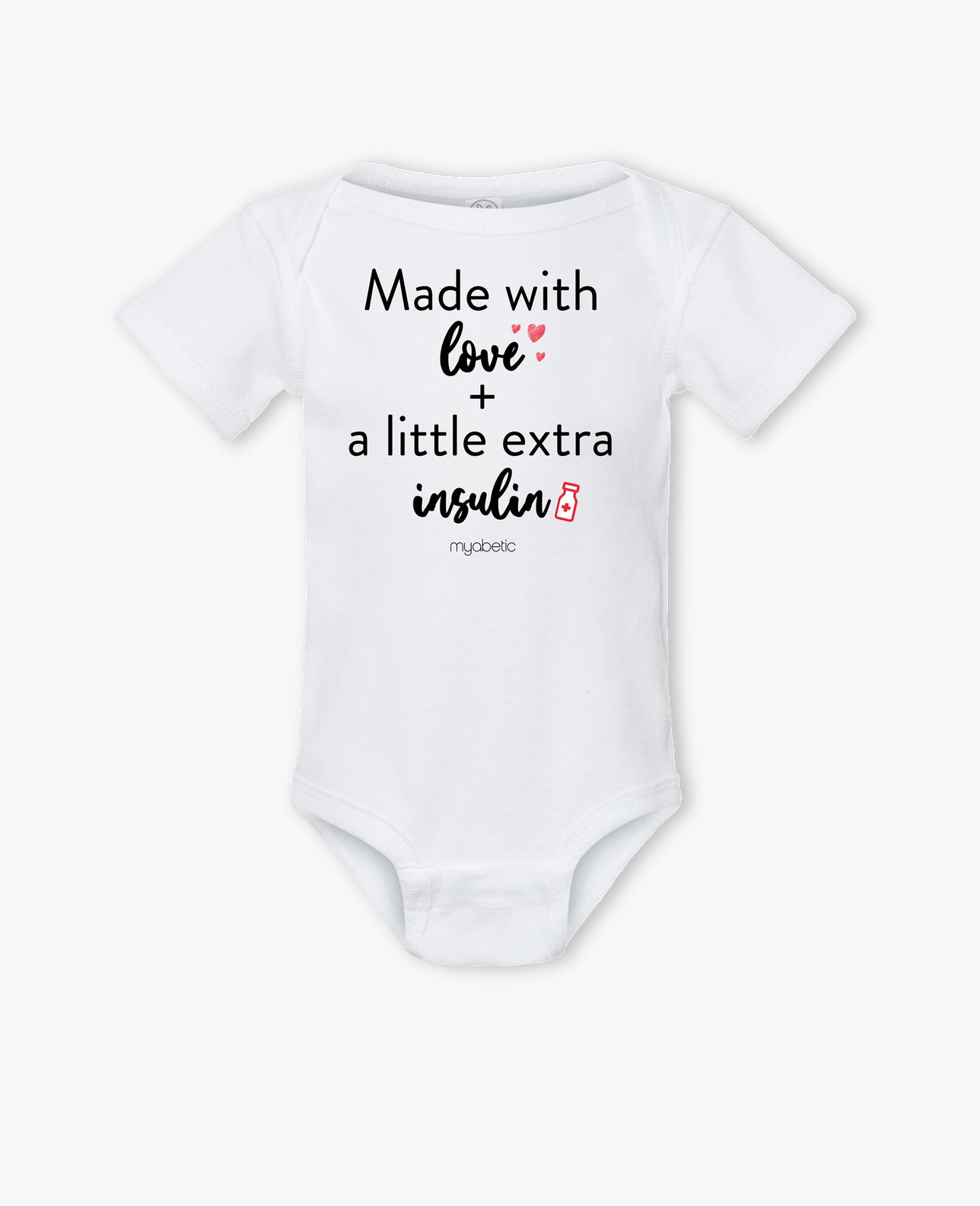 Baby Bodysuit: Made with Love and a Little Extra Insulin