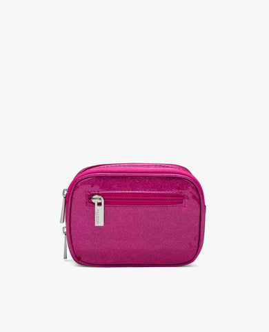 Clark Diabetes Compact Double Zip - Pink Glitter