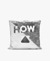 "Pillow: Sequin Changing ""High & Low"" Design"