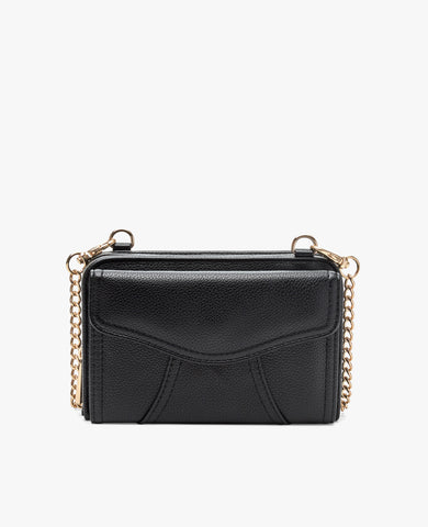 Marie Diabetes Mini Crossbody - Black with Gold Hardware
