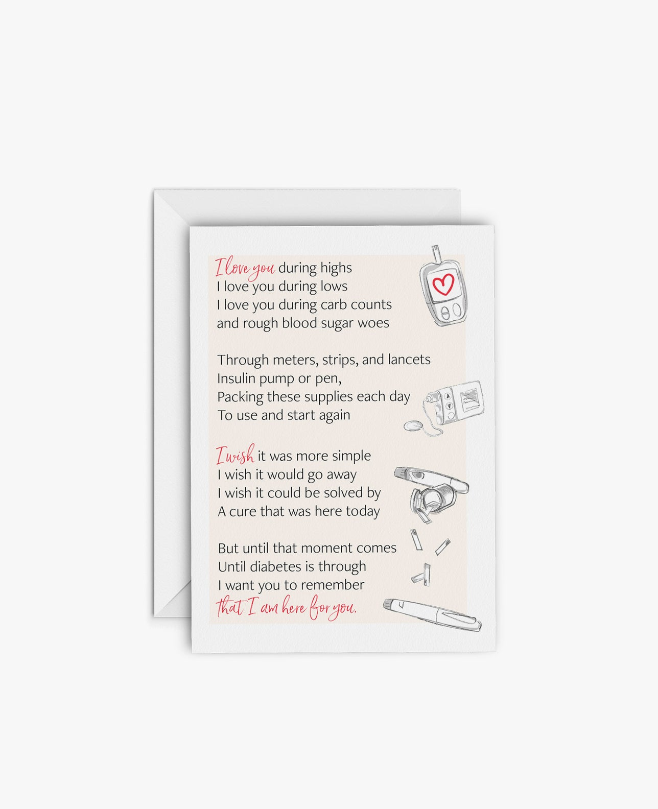 Greeting Card: Poem for Love & Encouragement