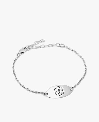 Priscilla Diabetes Bracelet - Sterling Silver