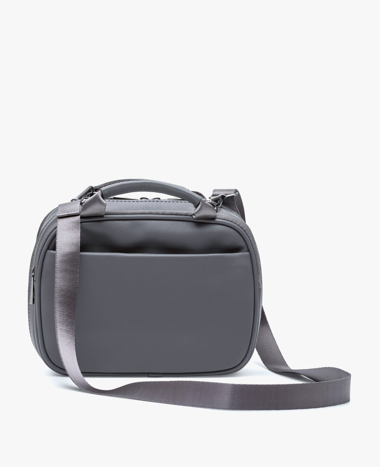 color:Charcoal Vegan Leather